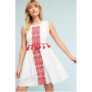 HTF NWT ANTHROPOLOGIE Margaret Tasseled Dress